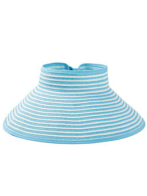 Store Striped Pattern Open Top Foldable Summer Hat