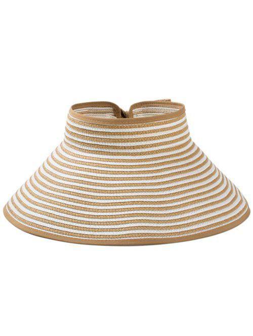 Fashion Striped Pattern Open Top Foldable Summer Hat