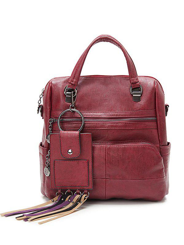 Fashion Multi Pockets PU Leather Big Capacity Handbag