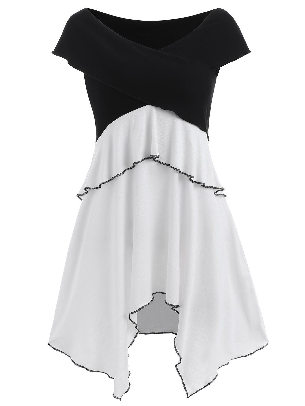 Outfit Short Sleeve Layered Asymmetrical Dress