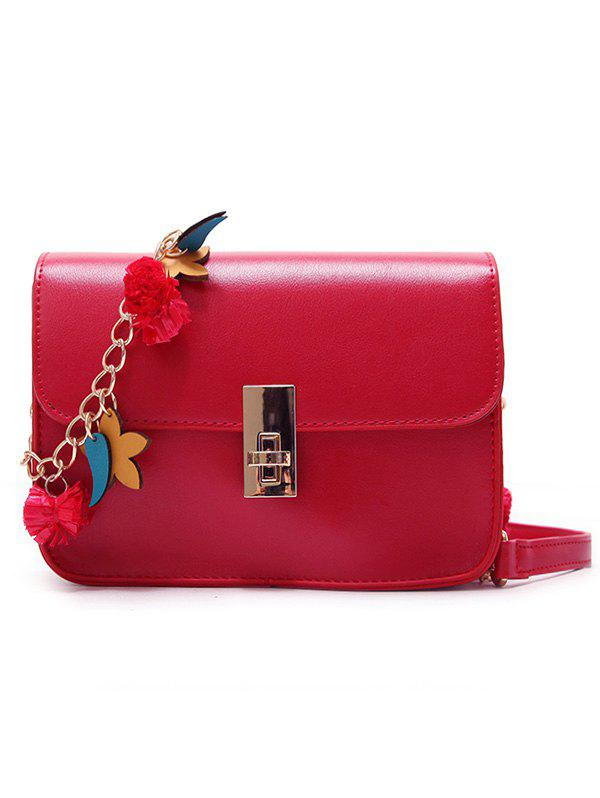 Hot Flap Hasp Closure Star Embellished Chain Crossbody Bag