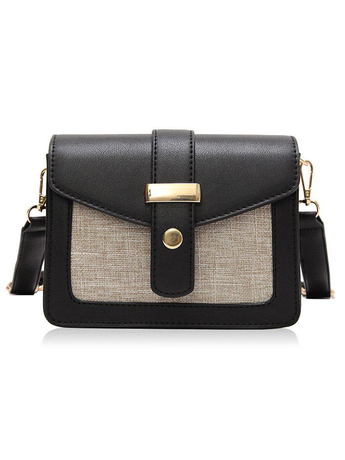 New PU Leather Patchwork Simple Design Small Crossbody Bag