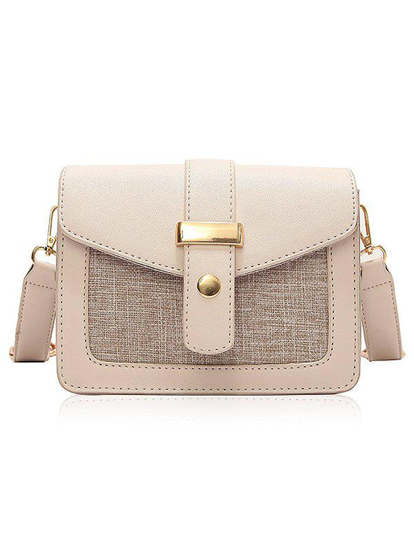 Best PU Leather Patchwork Simple Design Small Crossbody Bag