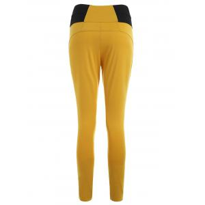 Button Decorated Tight Pants -