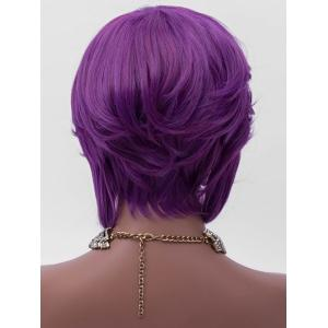 Short Inclined Bang Layered Straight Party Synthetic Wig -