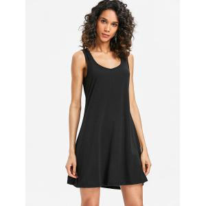 Sleeveless Scoop Neck Shift Dress -
