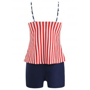 Stars and Stripes Print Tankini -
