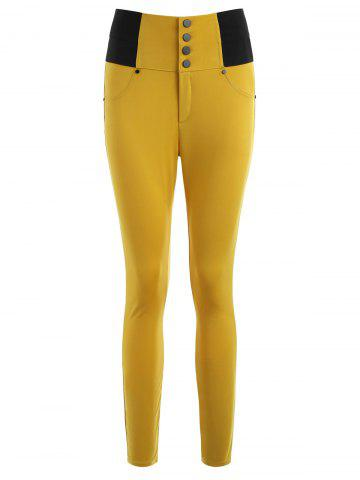 Sale Button Decorated Tight Pants