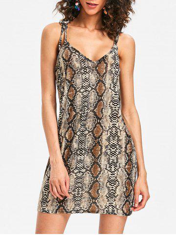 Store Plunge Snakeskin Print Bodycon Dress
