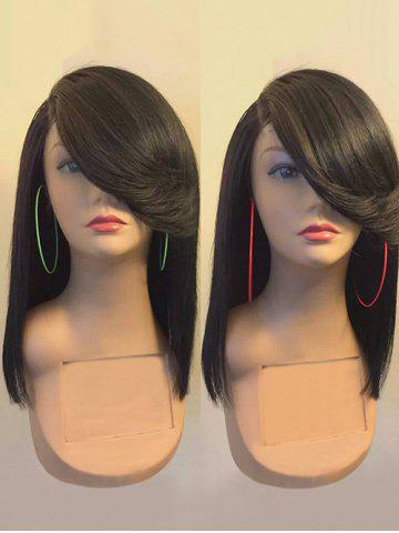 New Long Flip Side Parting Straight Synthetic Fiber Wig
