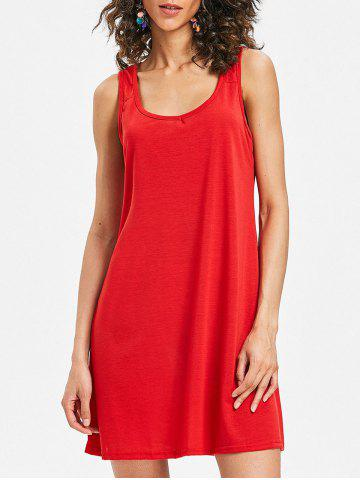 Hot Sleeveless Scoop Neck Shift Dress