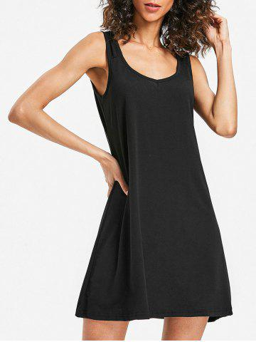 Fancy Sleeveless Scoop Neck Shift Dress