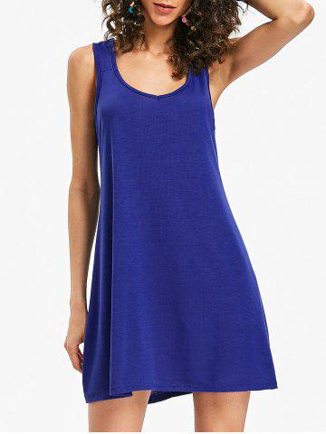 Outfits Sleeveless Scoop Neck Shift Dress