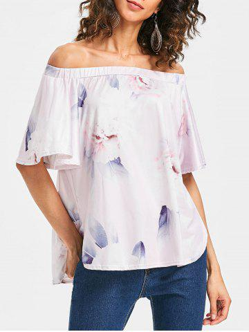 Latest Floral Print Off The Shoulder Top