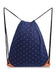Polka Dot Casual School Drawstring Backpack -