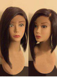 Medium Side Parting High Low Straight Synthetic Wig -