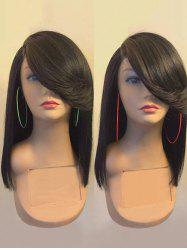 Long Flip Side Parting Straight Synthetic Fiber Wig -