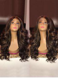 Long Center Parting Highlight Loose Wave Synthetic Wig -
