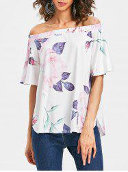 Floral Print Off The Shoulder Top -