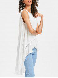 Longline Asymmetrical Tank Top -