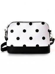 Contrasting Color Faux Leather Shopping Crossbody Bag -