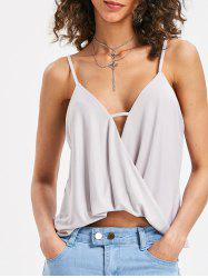 Cut Out Wrap Cami Top -