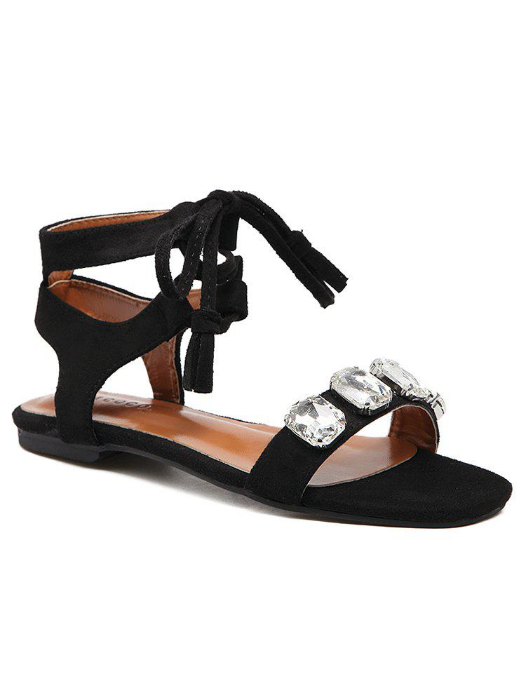Outfit Ankle Strap Crystal Crisscross Sandals
