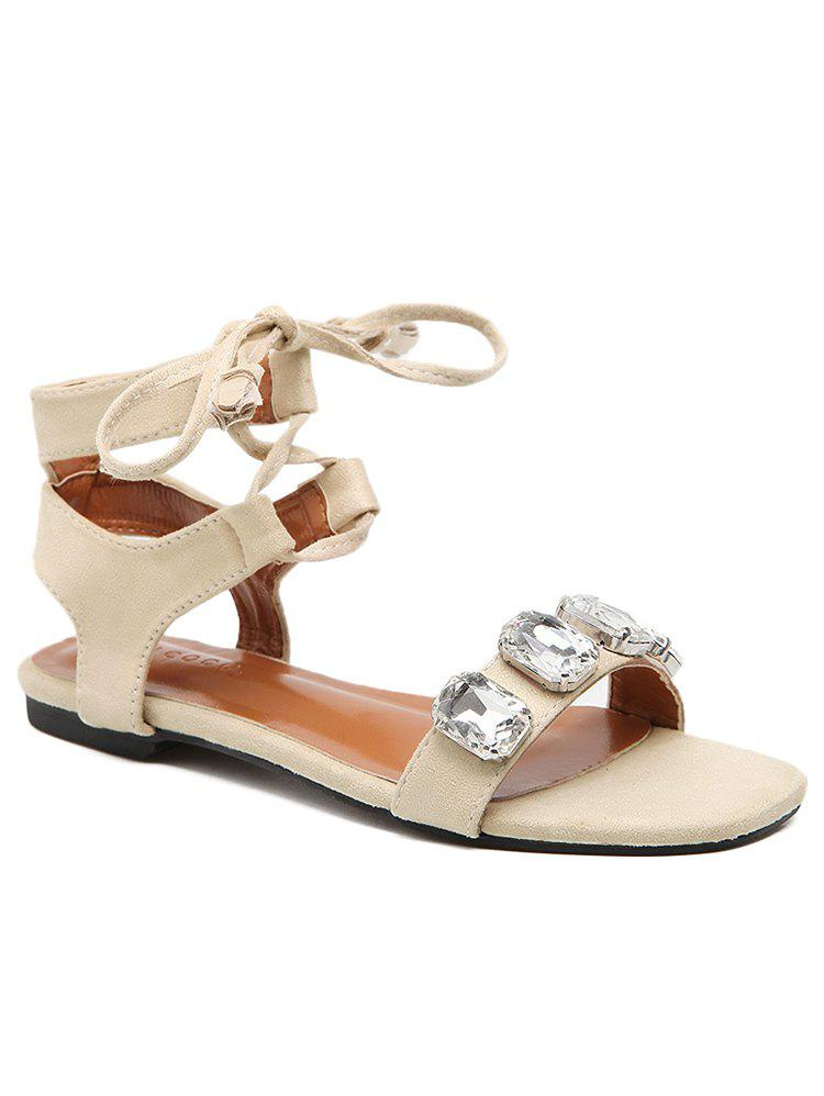Latest Ankle Strap Crystal Crisscross Sandals
