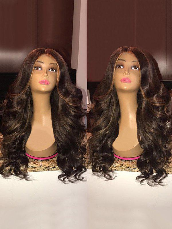 Store Long Center Parting Highlight Loose Wave Synthetic Wig