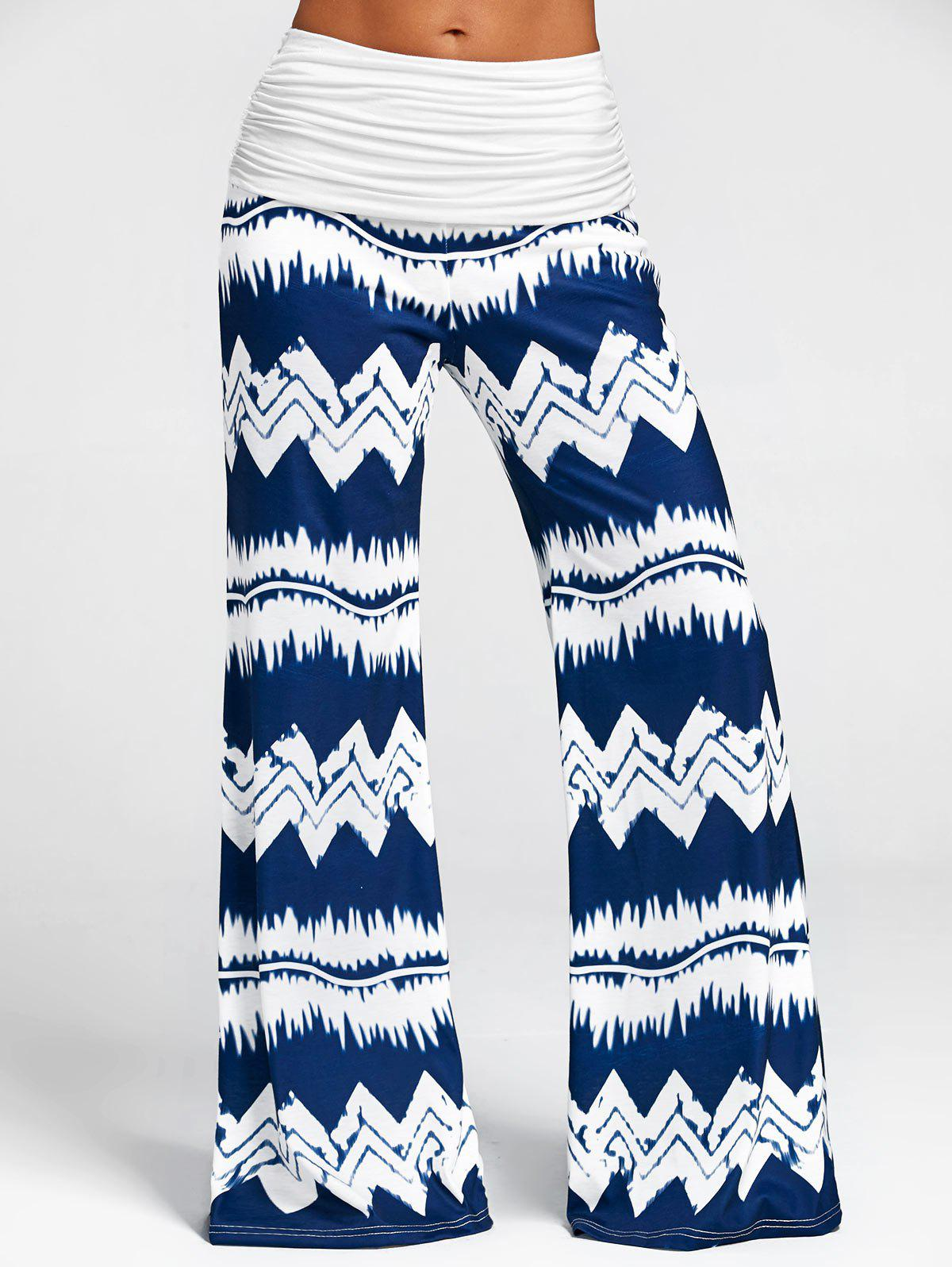 Outfit Zigzag Print Wide Leg Casual Pants