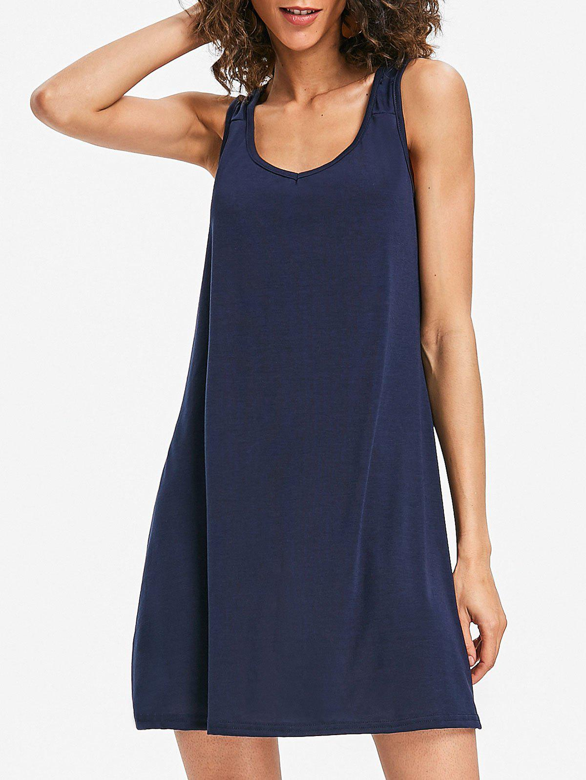 Latest Sleeveless Scoop Neck Shift Dress