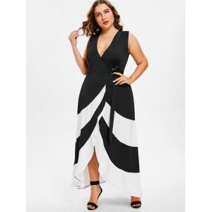 Plus Size Sleeveless Maxi Wrap Dress -