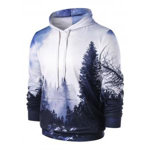 3D Forest Print Pullover Hoodie -