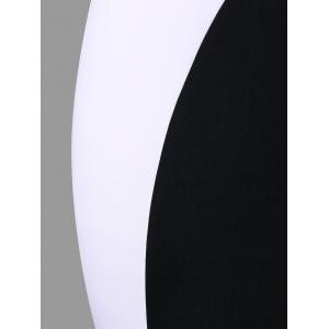 Plus Size Sleeveless Color Block Dress -