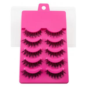5 Pair of Handmade Volumizing Curling Fake Eyelashes -