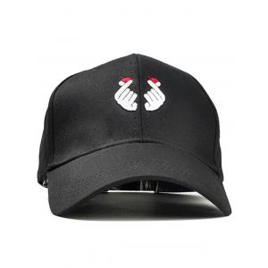Unique Love Heart Gestures Embroidery Baseball Hat -