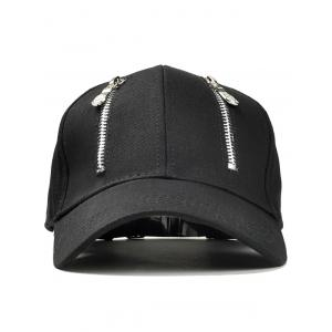 Chapeau graphique Punk Double Zippers -