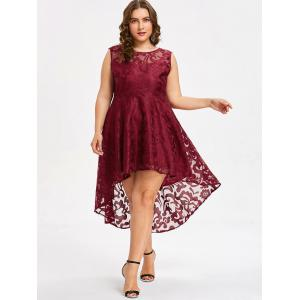 Robe Style Haut-Bas Grande-Taille -