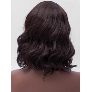 Medium Side Parting Wavy Synthetic Wig -