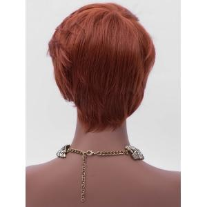Short Side Bang Layered Straight Party Synthetic Wig -