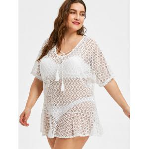 Lace Plus Size See Through Cover Up -
