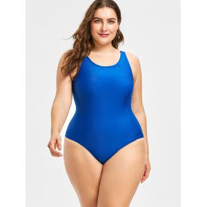 Plus Size One Piece Swimsuit with Fringe Skirt -