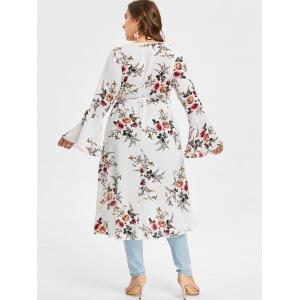 Plus Size High Low Floral Blouse -