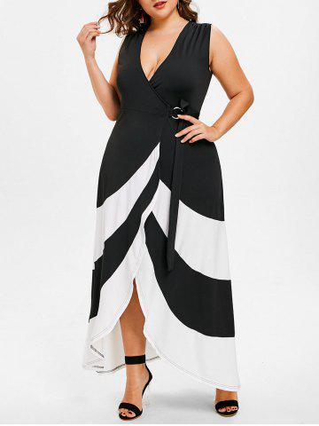 Chic Plus Size Sleeveless Maxi Wrap Dress