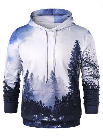 Fashion 3D Forest Print Pullover Hoodie