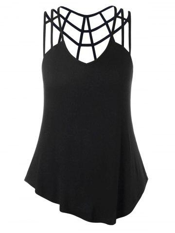 Store Plus Size V-neck Strappy Tank Top
