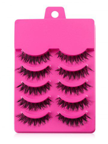 Outfit 5 Pair of Handmade Volumizing Curling Fake Eyelashes