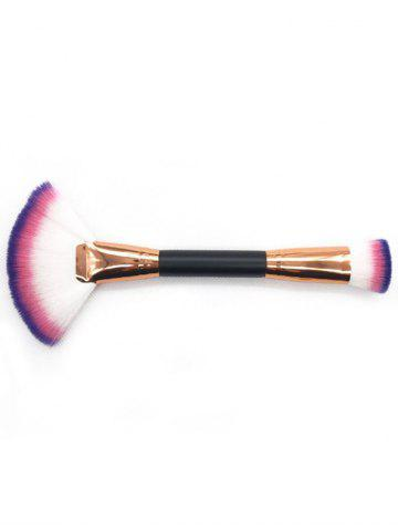 Shops Professional Dual Used Fan Shape and Foundation Brush