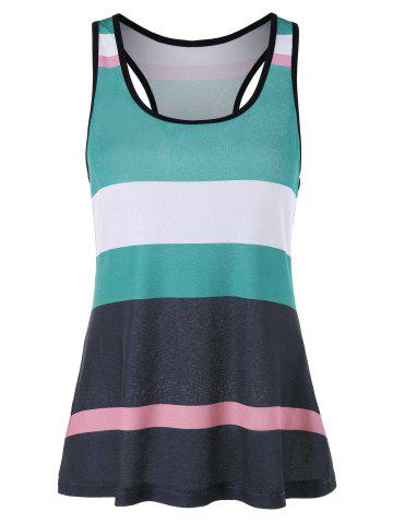 Best Stripe Racerback Tank Top
