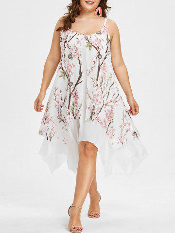 New Plus Size Flower Handkerchief Dress